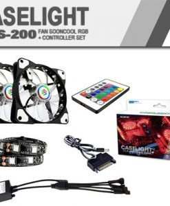 Fan sooncool RGB + controller set cls-200